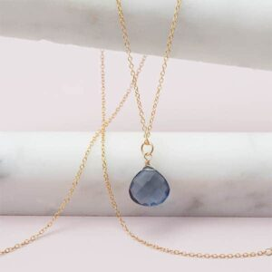 Single stone birthstone necklace