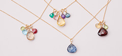 Design your own birthstone necklace. These custom birthstone necklaces are the perfect custom birthstone necklace for mom.
