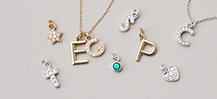 Design your own custom initial necklace. These custom initial necklaces are the perfect custom gift for mom.