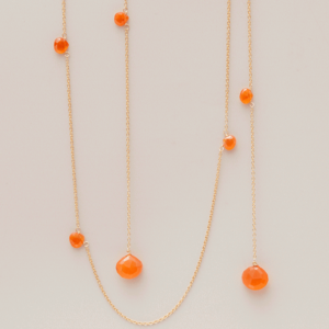 Carnelian lariat necklace