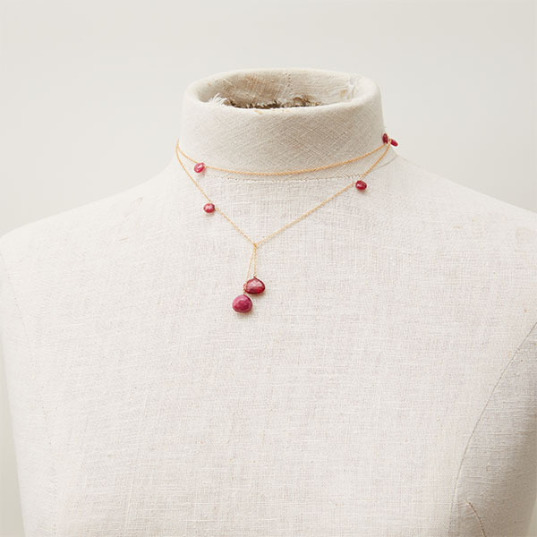 ruby lariat necklace
