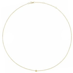 4mm ball yellow gold ball necklace