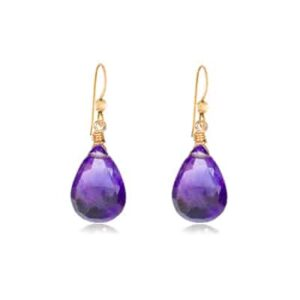 Cameron style February birthstone earring in amethyst by Erin Gallagher