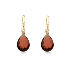 Cameron style January birthstone earring in garnet by Erin Gallagher