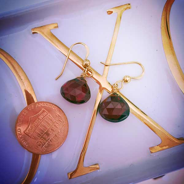 These custom birthstone earrings in gold are a favorite piece of birthstone jewelry. Custom birthstone earrings - a perfect gift.