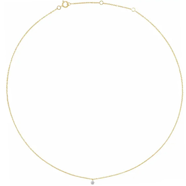 Diamond bracelet in yellow gold is a favorite piece of diamond jewelry - a perfect April birthstone jewelry gift.