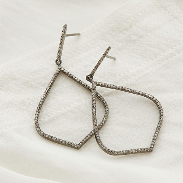 Diamond earrings in silver is a favorite piece of diamond jewelry - a perfect April birthstone jewelry gift.