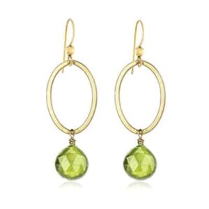 Eleanor style August Birthstone Earrings in Peridot