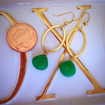 Eleanor earrings in dish