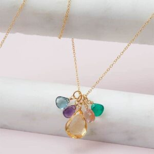 Elsa - 5 birthstone necklace