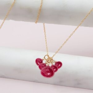 elsa style July birthstone necklace in ruby and gold-fill by Erin Gallagher