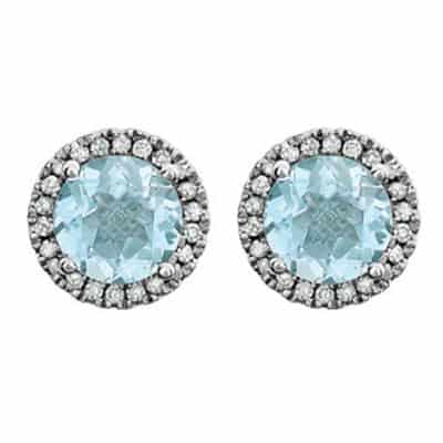 These aquamarine earrings in white gold are a favorite piece of aquamarine jewelry - a perfect March birthstone jewelry gift.