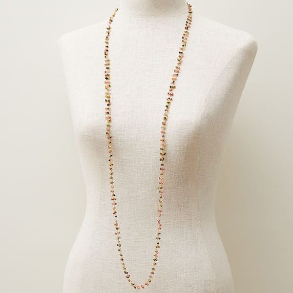 Tourmaline 48in long chain
