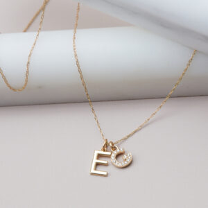 This personalized initial necklace in white gold is a favorite personalized initial necklace - the perfect personal gift.