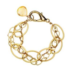 isabella style November birthstone bracelet in citrine and gold-fill by Erin Gallagher