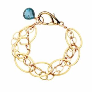 The Isabella london blue topaz bracelet in gold are a favorite piece of london blue topaz jewelry - a perfect September birthstone jewelry gift.