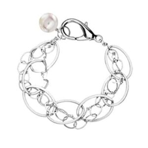Isabella style June birthstone bracelet in pearl and sterling-silver by Erin Gallagher