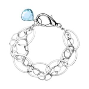 Isabella style December birthstone bracelet in swiss blue topaz and sterling silver by Erin Gallagher