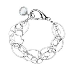 Isabella style April birthstone bracelet in white topaz and sterling-silver by Erin Gallagher