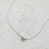 Sapphire in white gold necklace