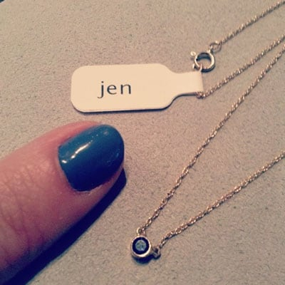 This custom birthstone necklace in white gold is a favorite piece of personalized birthstone jewelry - a perfect custom birthstone necklace gift