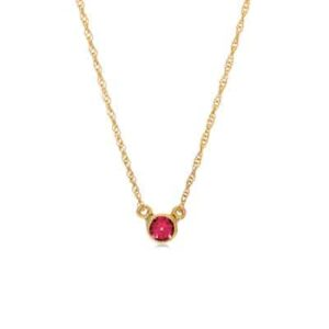 October birthstone necklace in pink tourmaline