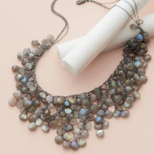 labradorite bib necklace