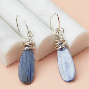 These Paisley kunzite earrings in silver are a favorite piece of kunzite jewelry - a perfect earrings gift.