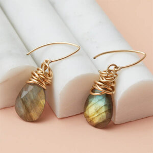 Design your own custom earrings. These Paisely drop earrings are a favorite piece of custom jewelry - a perfect personalized gift.