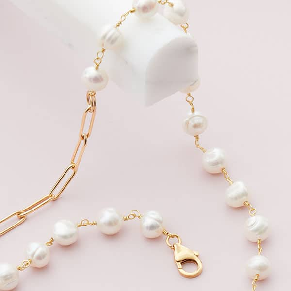 gold pearl chain