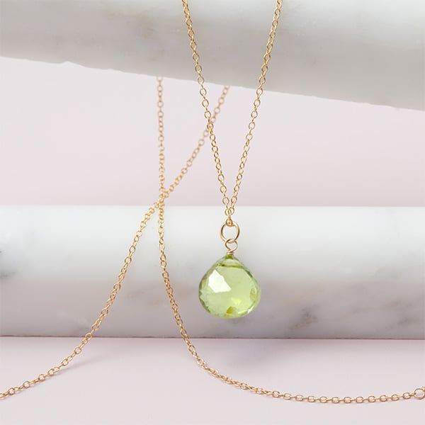 pendant green silver peridot necklace collection pale august birthstone beadage necklaces shop crystal