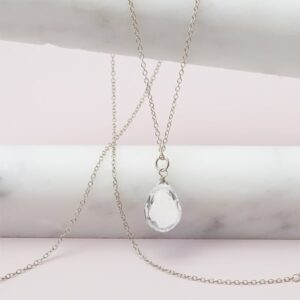 Rita style April birthstone necklace in white topaz and sterling silver by Erin Gallagher