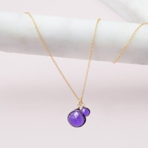 amethyst necklace in gold by erin gallagher