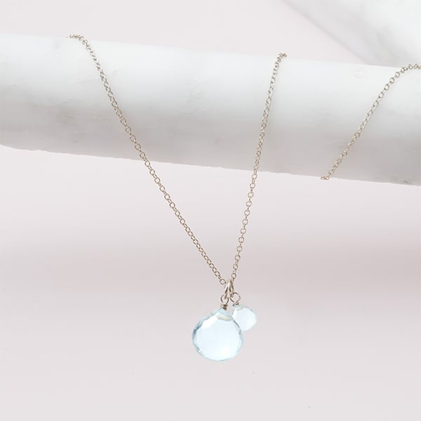 aquamarine necklace in silver by erin gallagher